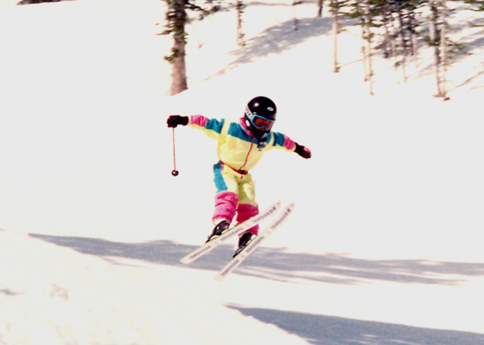 Ted Ligety catching air, 1992 - ©Ligety Family Photos