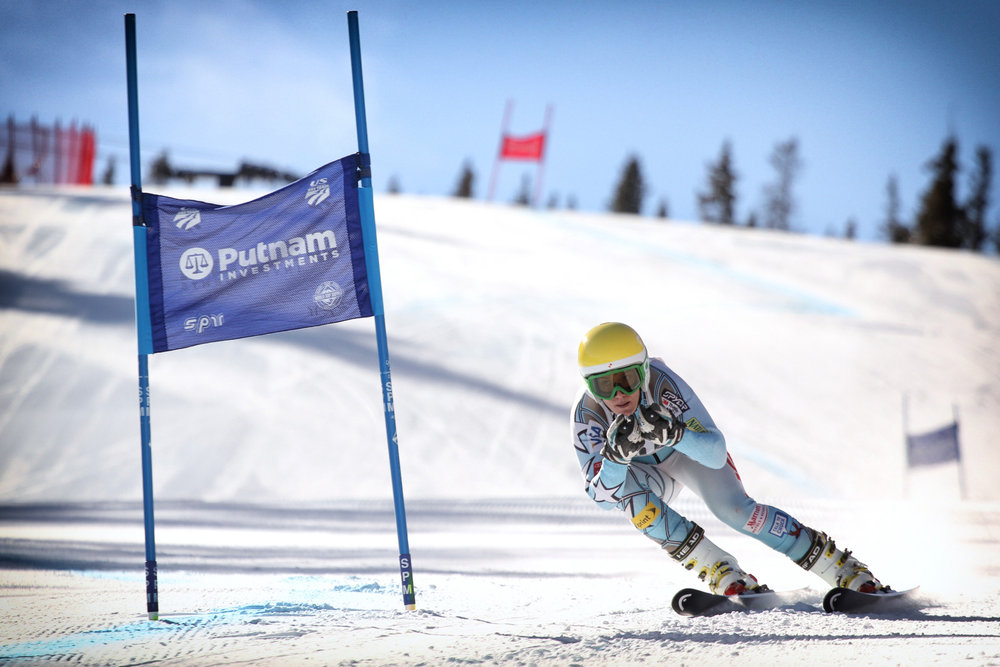 Brittany Lathrop trains with the U.S. Ski Team at Copper Mountain.