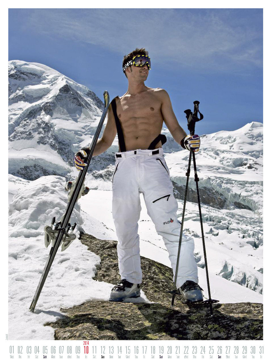 Mr October 2014 - Ski instructor calendar