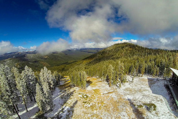 The second snow of the season dusted the Tahoe region overnight.
