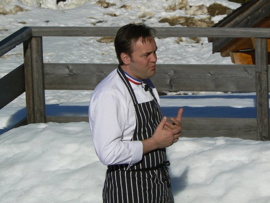 Chef Emmanuel Renaut at Flocons de Sel restaurant