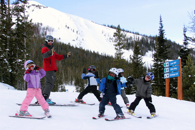 Big Sky offers kids camp lessons. - ©Lonnie Ball/Big Sky Resort