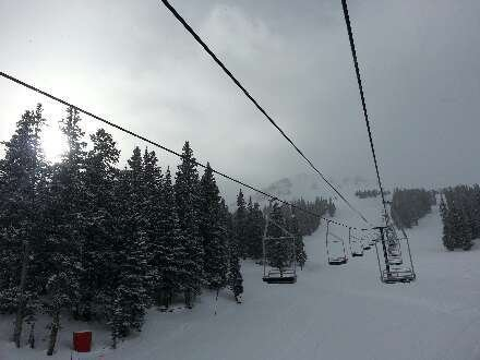 powder day, no chair lines..all day soft fresh powder! love loveland!
