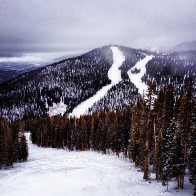 snow was pretty good all weekend at keystone, they opened up a tree run on the outback which was incredible, lots of untouched snow.