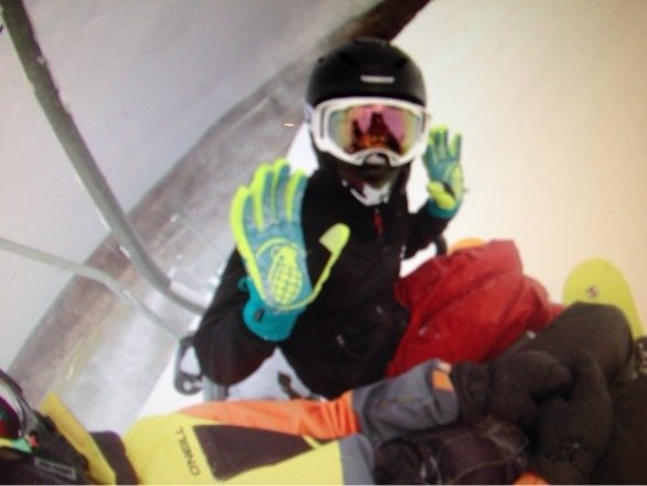 Was an awesome day sweet new improvements snow was good