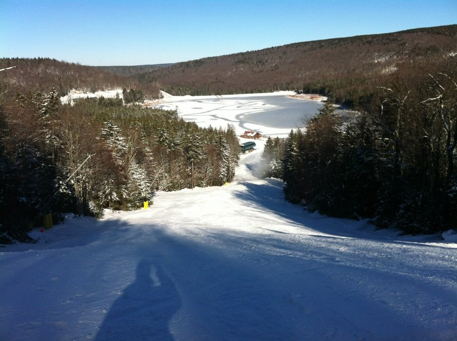 cd and blowing lots of snow 24 hrs a day. Should be opening up more runs this weekend - appears to be the goal.