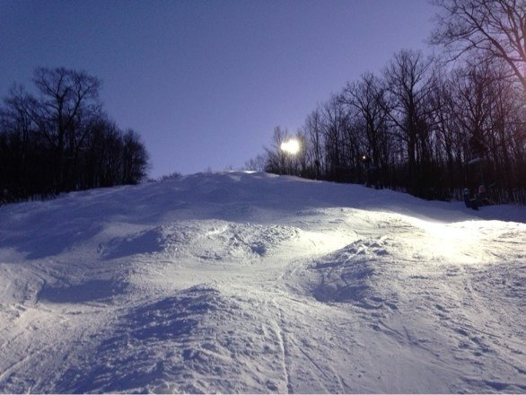 Boomer!! Soft moguls,Great few nights up here at Montage Mountain