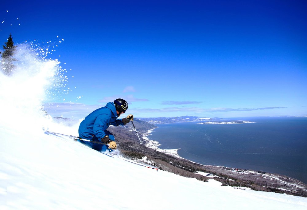 Epic view on the way down Le Massif in Quebec. - ©Le Massif