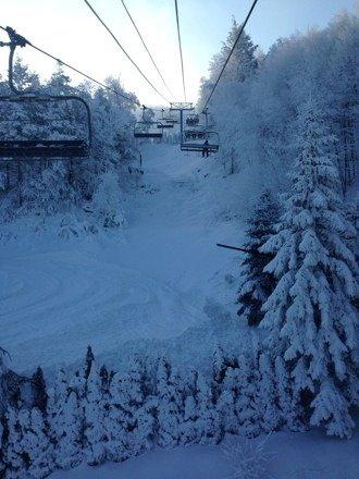Fun morning ski and board. No lines. Good soft fun bumps on Main Street.