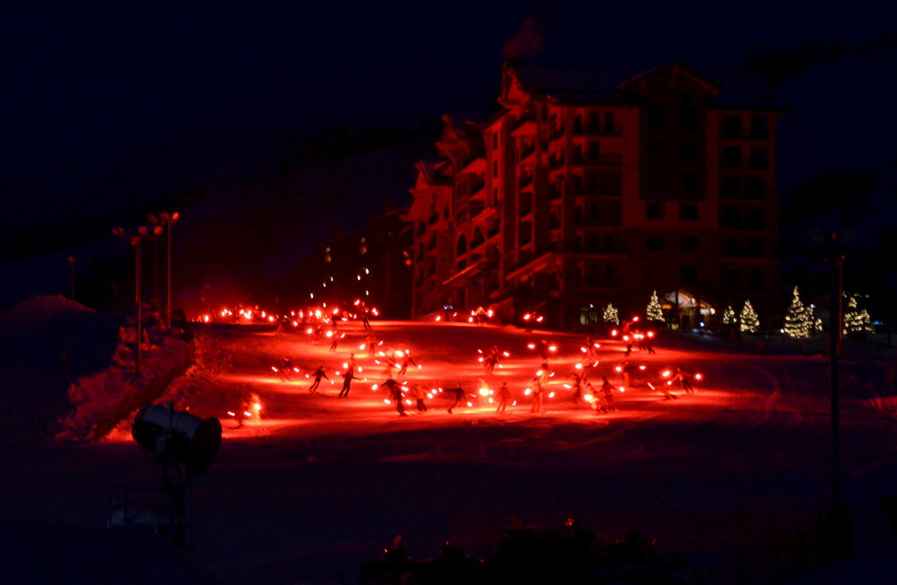 Night skiing starts at Steamboat Ski Resort, Dec. 20, 2013, with a Torchlight Parade. - ©Photos courtesy Shannon Lukens.