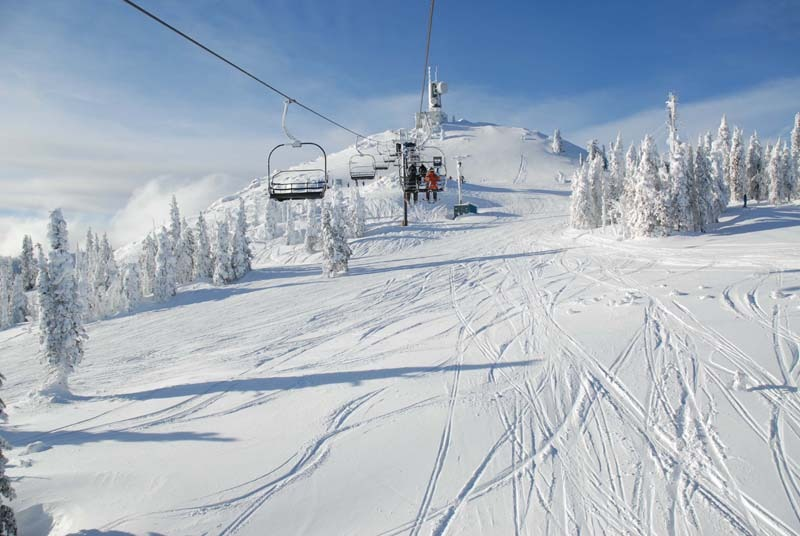 A view of a chairlift at Red Mountain Resort, B.C.