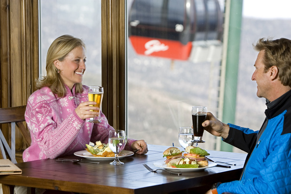 Dining in at Stowe, Vermont