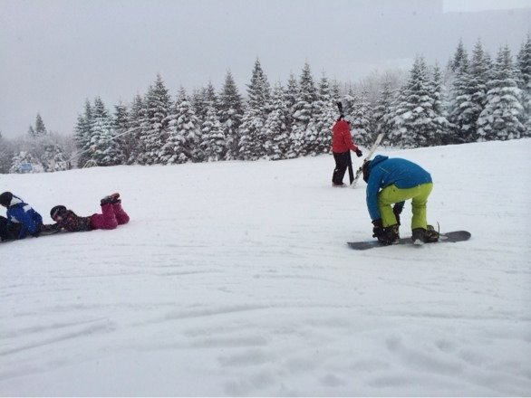 Great skiing, perfect day. Powder was awesome. Slopes not crowded. Best time to go.