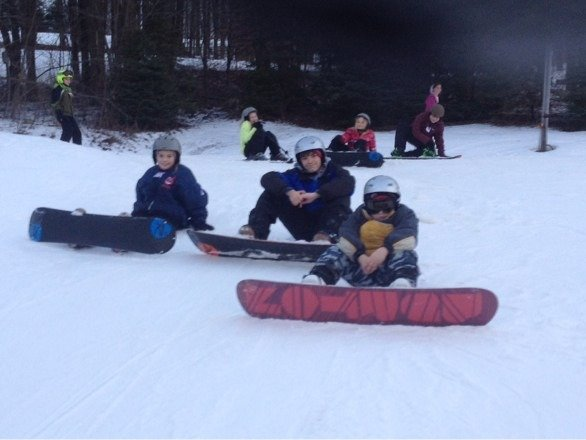 Three cousins doing some boarding last Saturday. The one on the left just learned today. Big thanks to the  great instructors.
