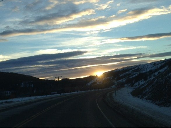 Just another awesome drive home from Bridger.  Life is good.