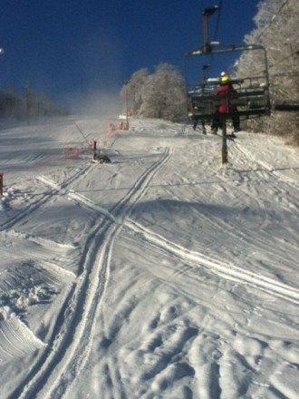 Sweet bit sticky snow Bundle up!