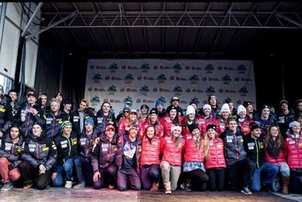 The 2014 U.S. Alpine Ski Team was introduced Nov. 8 to a crowd of thousands during Nature Valley First Tracks at Copper Mountain.  - ©Sarah Brunson/U.S. Ski Team