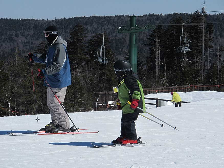 The family that skis together... has more fun.