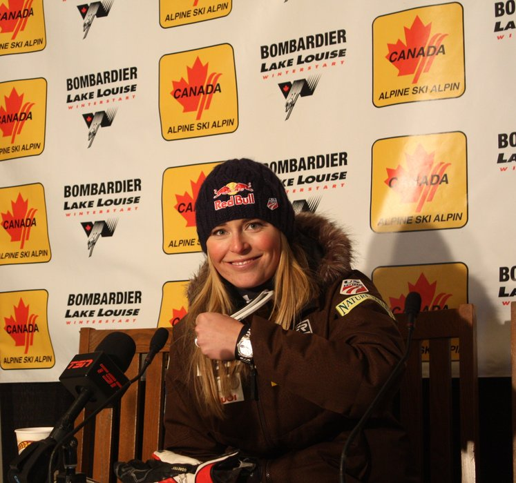 Lake Louise's most decorated champion, Lindsey Vonn.