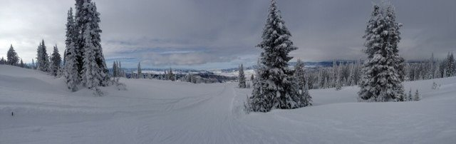 Panorama from yesterday. Yet another amazing day at steamboat.