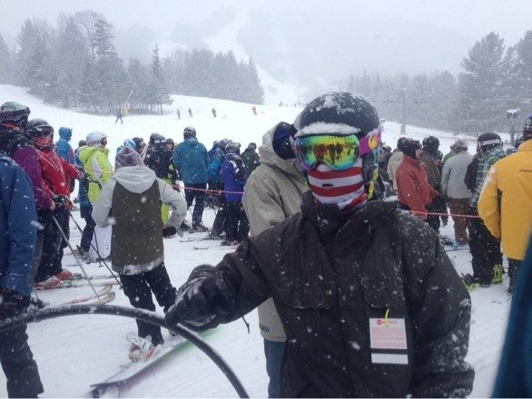 Went today - the morning was good, caught some fresh snow. It was consistently fluffy til the early afternoon and washed off and got a bit icy. Crowds were a little more than a normal Saturday. Hopefully they blow some snow and groom out overnight