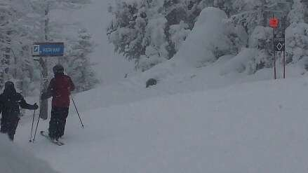 By 10 most trails were icy. the best riding was in the last two hours when heavy snowfall created a nice surface.