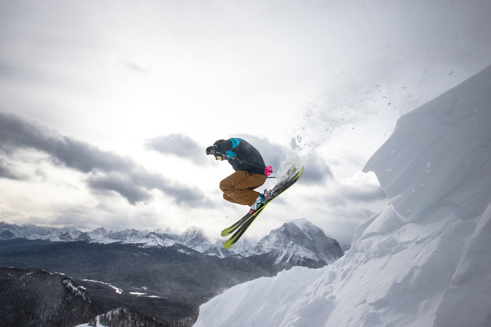 Airing it out over Temple Mountain at Lake Louise. - ©Liam Doran