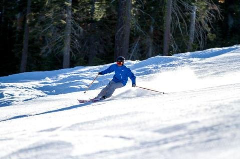 Skier enjoying the groomers at Northstar California - ©Northstar California