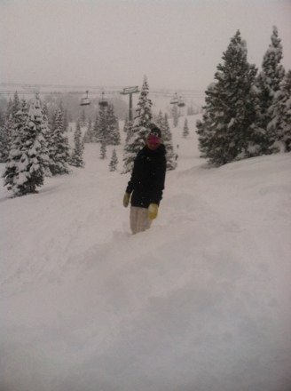 Sickest day in years! Knee to thigh deep all over the hill!