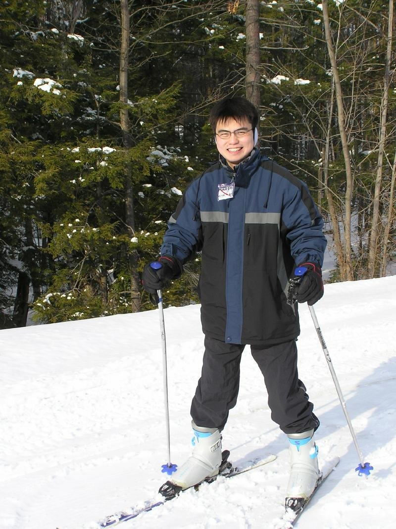 A skier at Ragged Mountain, New Hampshire