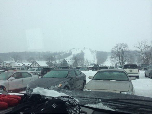 Kinda busy.. Terrain park needs new features. Snows good tho