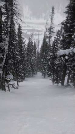 chair 1 was good.  mtns are about to get pounded, will only getting better.
