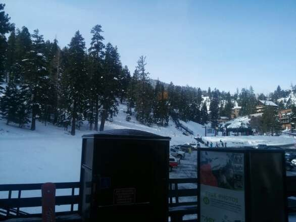 Upper mountain closed due to wind hold today.  Only Stagecoach on the Nevada side open  :-(