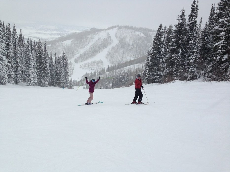 hated to go home! such a great trip! upped our ski level and killed it!!!