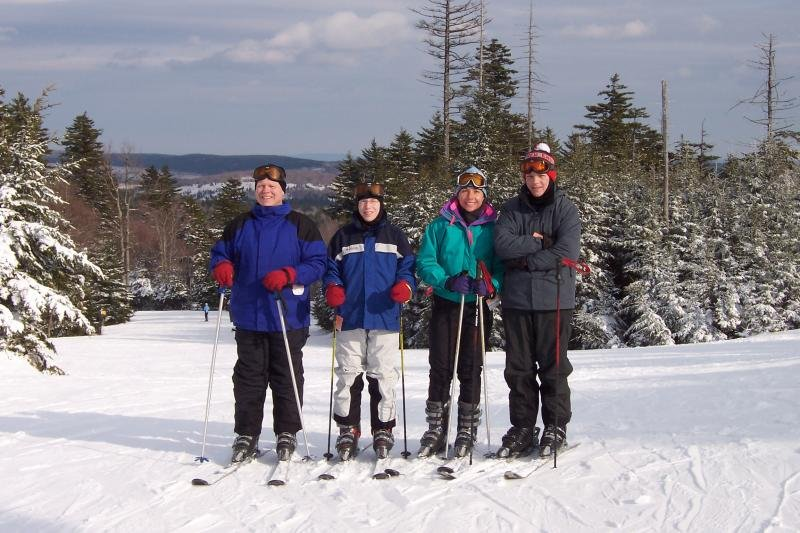 A group poses for a photo at Canaan Valley Resort, West Virginia