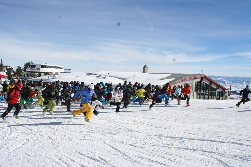 Doing battle during the Big Mountain Battle at Park City Mountain Resort.
