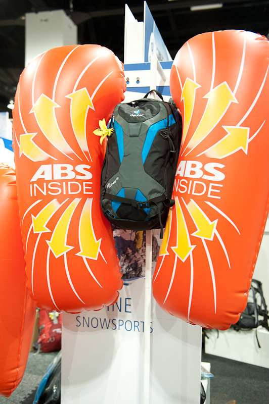 Deuter's new On Top ABS backcountry balloon Pack. - ©Ashleigh Miller Photography