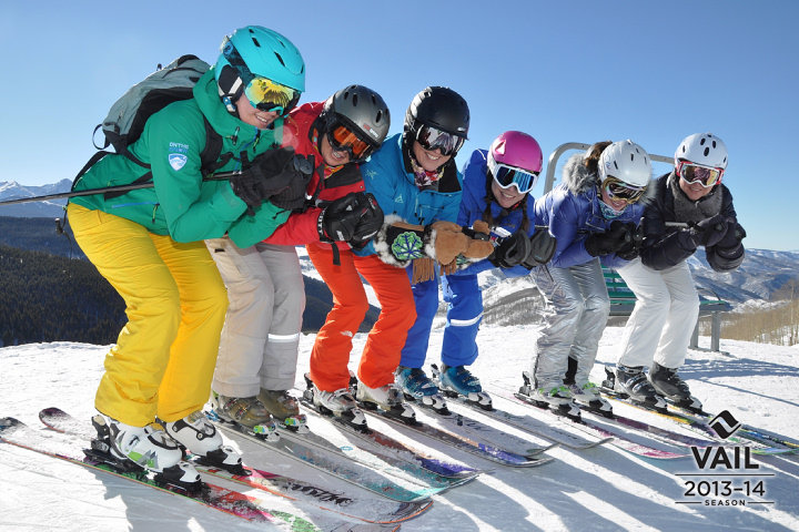 We even learned to tuck in formation during She Skis, 2014.