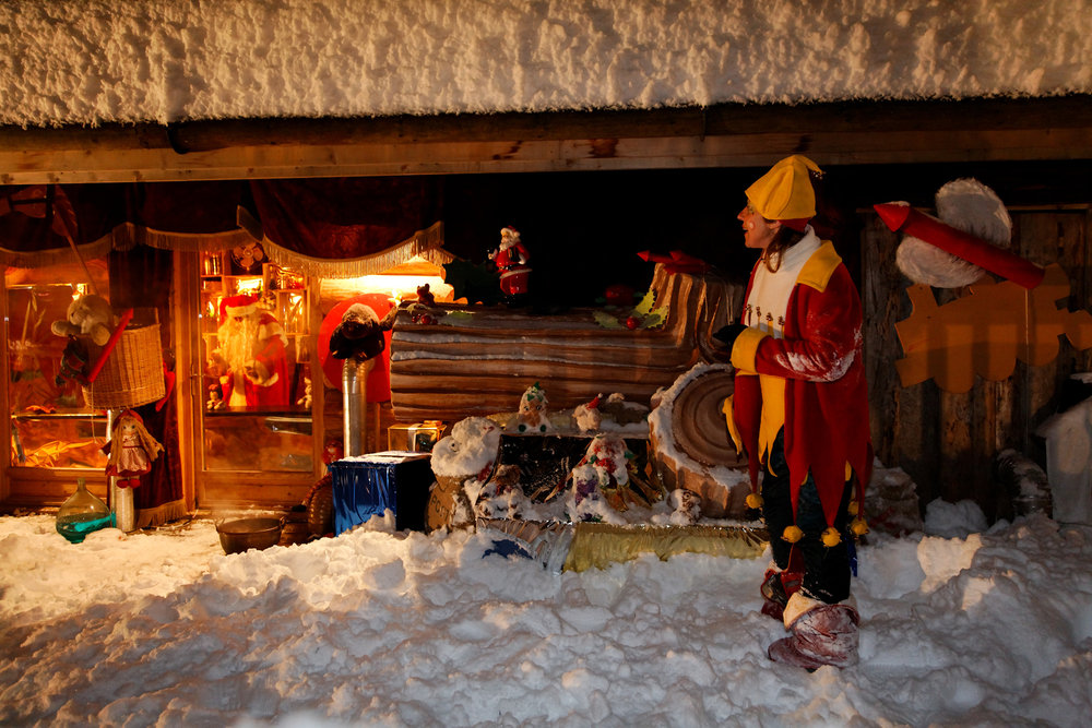 Santa cabin in Les Gets, France