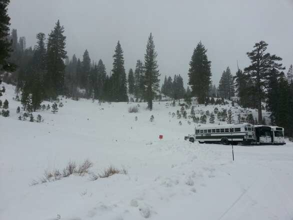 snow is light and dry been snowing most of night and now  its really coming down. will be excellent powder for days.get up here now as roads at some point may close. just getting off work with snow removal for Alpine Meadows