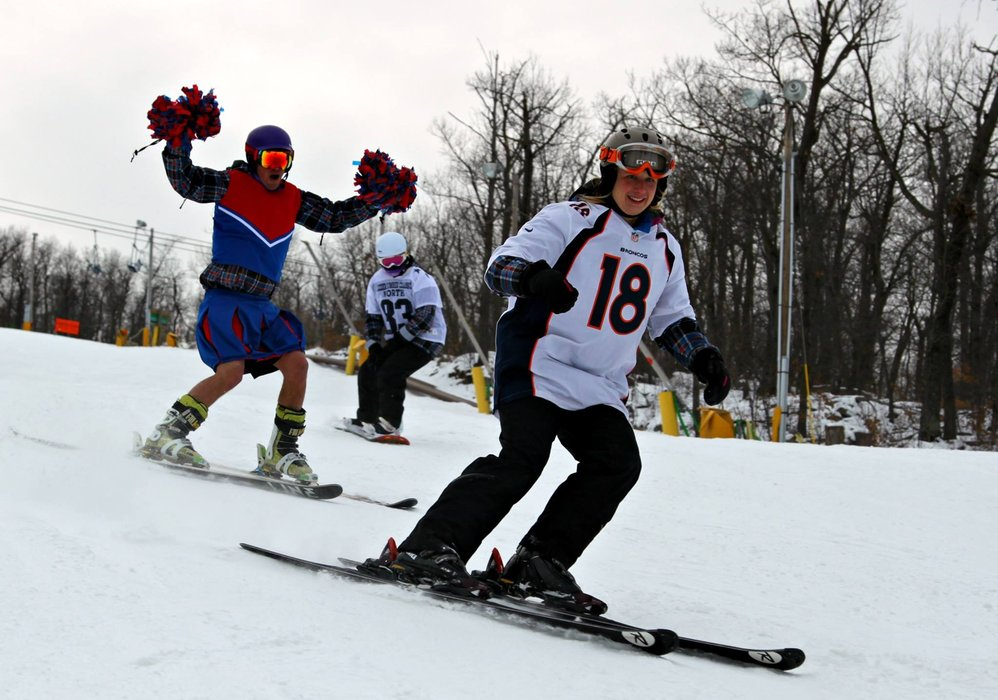 Show your team spirit and ski free on Superbowl Sunday at Mountain Creek.