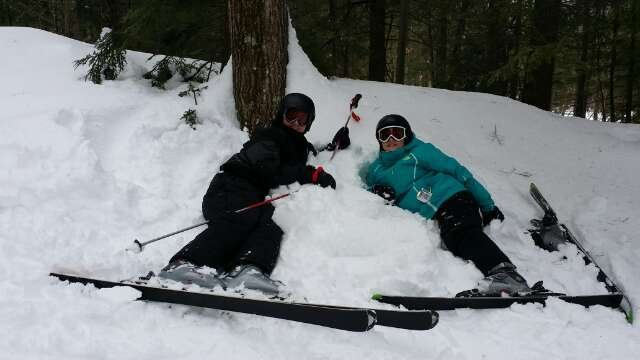 Great conditions today with my niece and nephew. Soft snow and excellent tree skiing.  Hurricane rocked.
