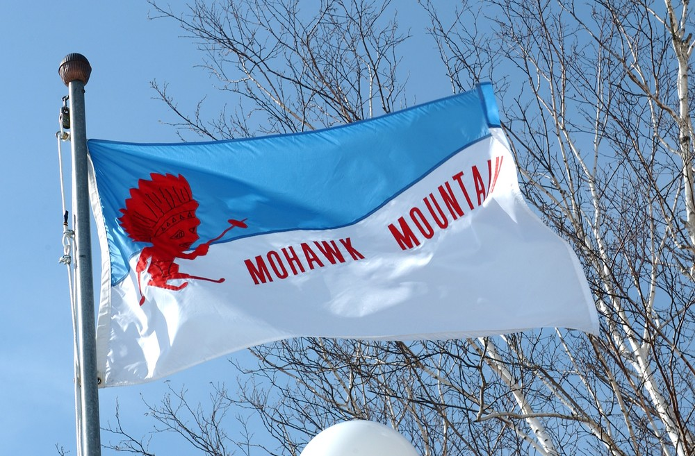A view of the Mohawk Mountain, Connecticut flag