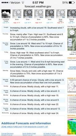 Lots of snow on its way starting tomorrow