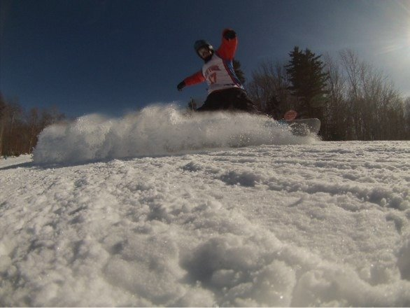 Great conditions yesterday. Still ins of fresh snow in the glades and surrounding trails.