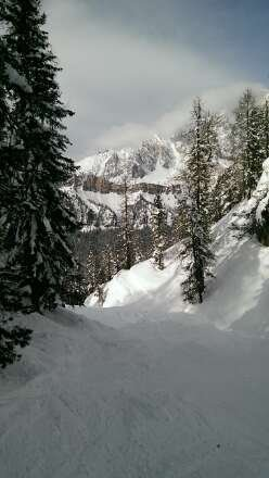 Great powder skiing and with the sun out. Perfect!