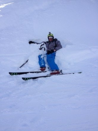bottom of a tree line after challenging bowl filled with powder at Breck....relaxing in the beauty of the creator ....ty