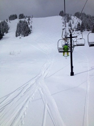 Sick day and no one there! Alpental was closed but didn't even matter. Fresh tracks all day.