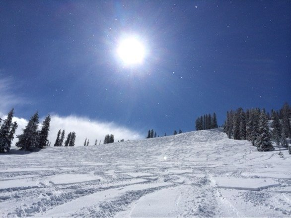 Warm and sunny with some fresh heavy powder