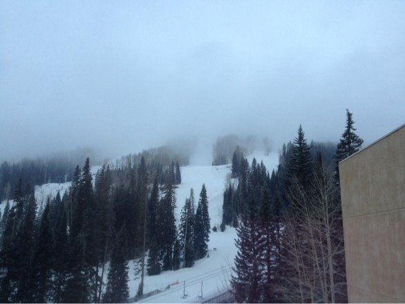 Snow is coming down in Purgatory!